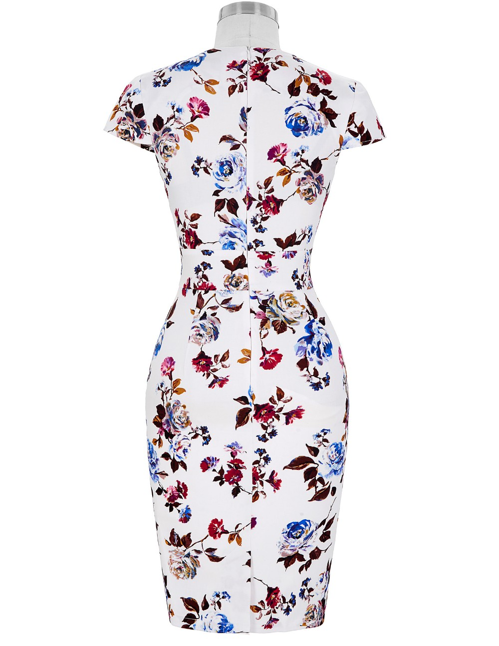 Women Plus Size Pencil Dresses Rockabilly Clothing 2018 Floral Summer Casual Party Office Dress Sexy 50s Vintage Bodycon Dress 22