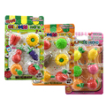 Fruta linda Forma Vegetal Borracha Kawaii Borrador de Lápiz Para Los Niños Jugar Juego de la Casa de Juguete De Goma Gomas de Borrar Material Escolar Infantil
