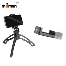 Mamen Phone Stand Holder Self Stick Bluetooth Wireless Remote Control Camera Tripod 1/4 Screw Phone Bracket Photo Monopod