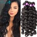 Filipino Virgin Hair Loose Wave 4Pcs/Lot Virgin Filipino Human Hair Weaves, Filipino Loose Wave Hair Bundles Free Shipping
