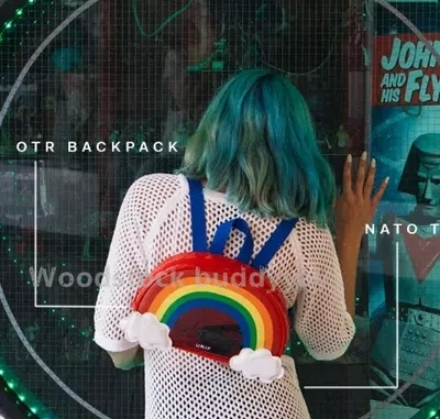 Regino Summer UNIF Rainbow Cloud Preppy Style Cute Harajuku Women's Backpack Students' Backpack