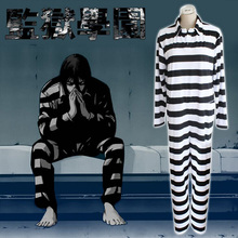 Kangoku Gakuen Prison School Prisoner Cosplay Costumes Clothes Prison Uniform Striped Coveralls One Piece Suit Siamese