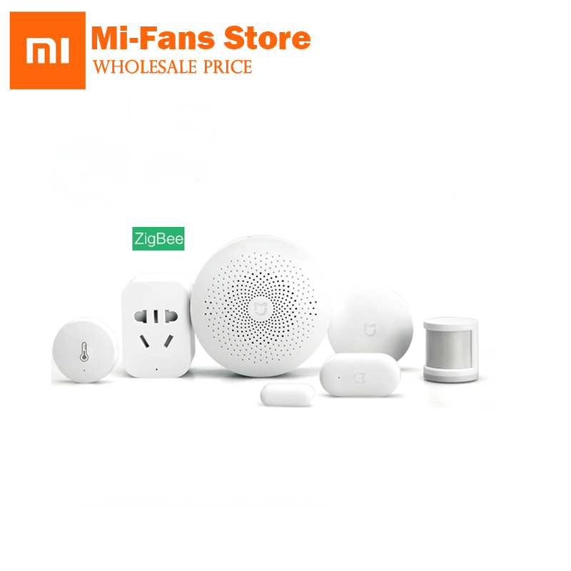 Xiaomi Smart Home Kit Mijia Gateway Door Window Human Body Sensor Temperature Humidity Sensor Wireless Switch
