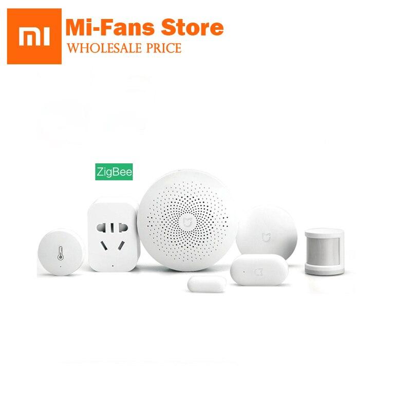 D'origine Xiaomi Smart Home Kit Passerelle Porte Fenêtre Capteur Corps Humain Capteur Commutateur Sans Fil Multifonctionnel Appareils Intelligents Ensembles