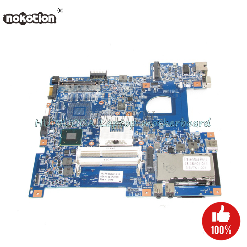 NOKOTION NBV7K11001 48.4SA01.011 MainFor Acer Travelmate P643 P643-M P643-MG P643-V Laptop Motherboard DDR3NOKOTION NBV7K11001 48.4SA01.011 MainFor Acer Travelmate P643 P643-M P643-MG P643-V Laptop Motherboard DDR3