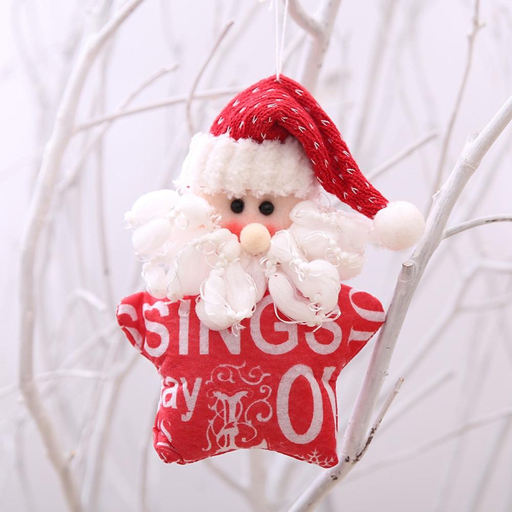 17*12CM Christmas Ornaments Gift Cute Santa Claus Snowman