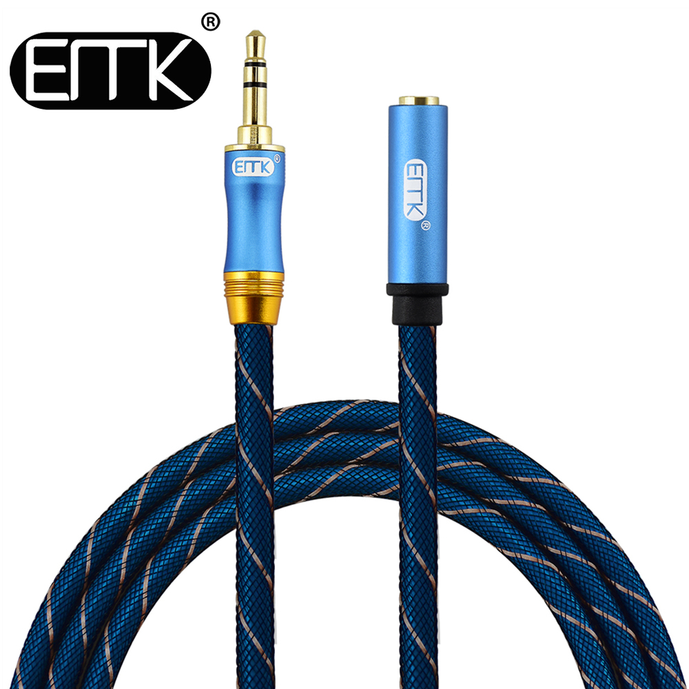 EMK 3.5mm extension cable male to female audio cable 3.5mm aux cable 2m 3m 5m Extender Cord Headphone Cable for iPhone Amplifier samzhe 3 5 mm audio extension cord aux cable extender male to female audio aux cord for headphone amplifier laptop music player