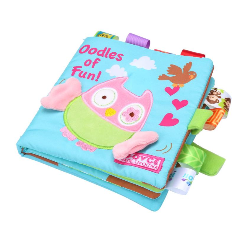 Animals Owl Soft Cloth Baby Intelligence Development Learn Picture Cognize Book toy for Chidren interesting toy Cherryb