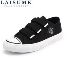 2019 LAISUMK Spring/Autumn Men Casual Shoes Breathable Black High-top Lace-up Canvas Espadrilles Fashion White Mens Flats