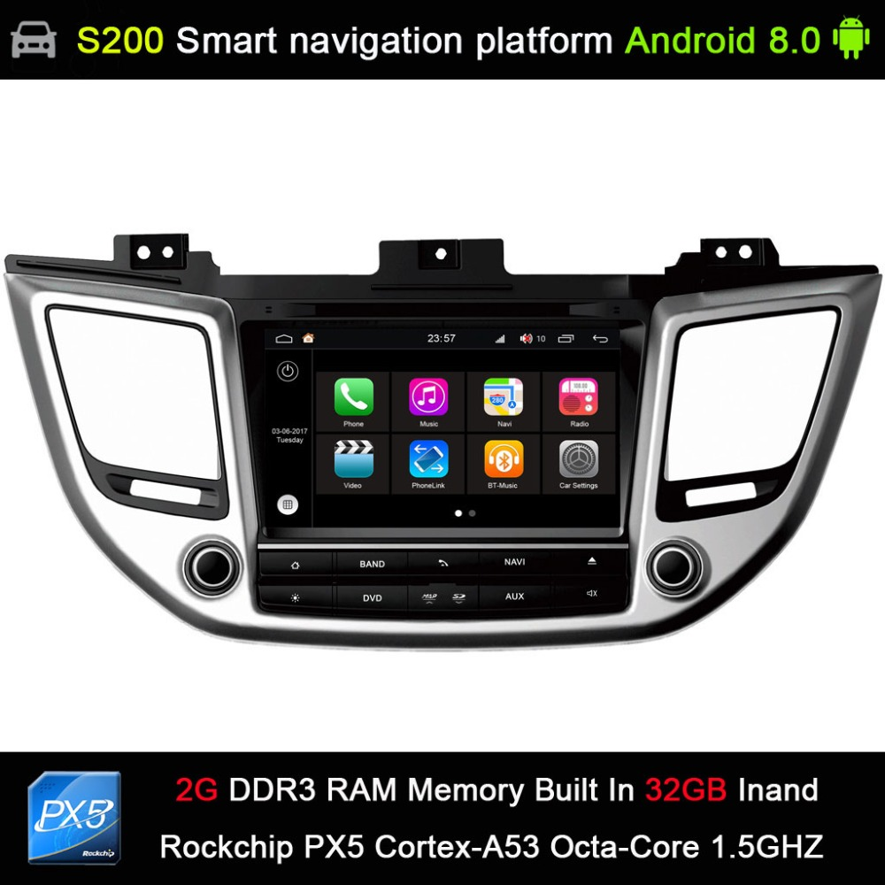 Android 8 0 system PX5 Octa 8 Core CPU 2G Ram 32GB Rom Car DVD Radio