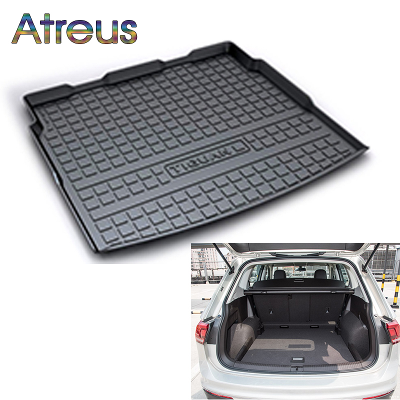 Atreus For VW Tiguan 2009-2015 2016 2017 2018 Volkswagen Tiguan Accessories Car Rear Boot Liner Trunk Cargo Mat Floor Carpet Pad наклейки e top zyva 319 nn vw topgear volkswagen tiguan