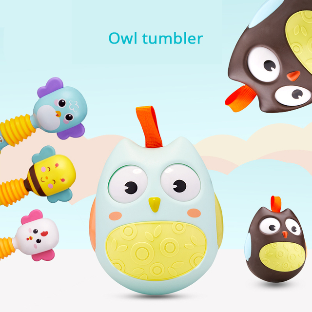 Tumbler Music Bed Bell Sensory Training Rattles Educational Toys Baby Toys 0-12 Months Toys For Newborns Mobile For Baby Cot