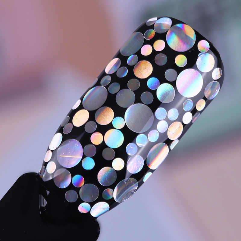 AB Bunglon Laser Perak Kuku Glitter Payet Debu Campuran Rhombus Bentuk Tips DIY Pesona Bahasa Polandia Serpihan Dekorasi