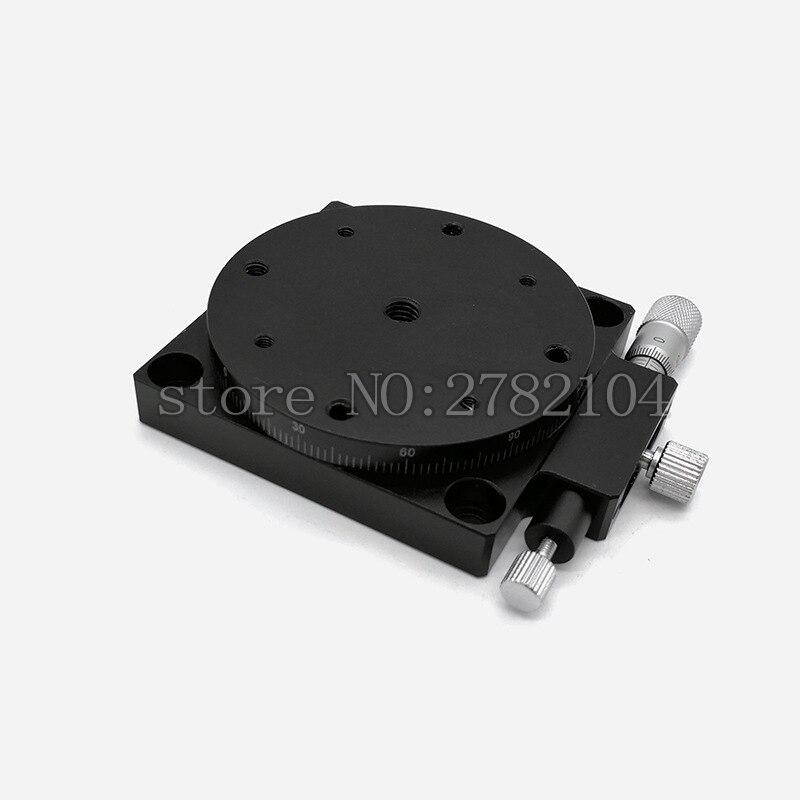 R Axis 60mm plataforma giratoria Manual deslizamiento etapa precisión rodamiento carga lineal etapa 29.4N 60mm RS60-L - 4