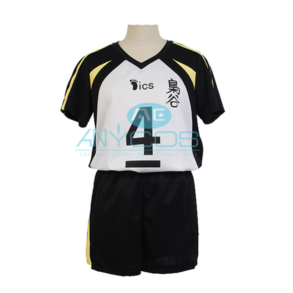 Haikyu! Fukurodani Academy Captain Kotaro Bokuto Uniform Jersey High School #4 Uniform Men Boys Sports Jerseys Cosplay Costume