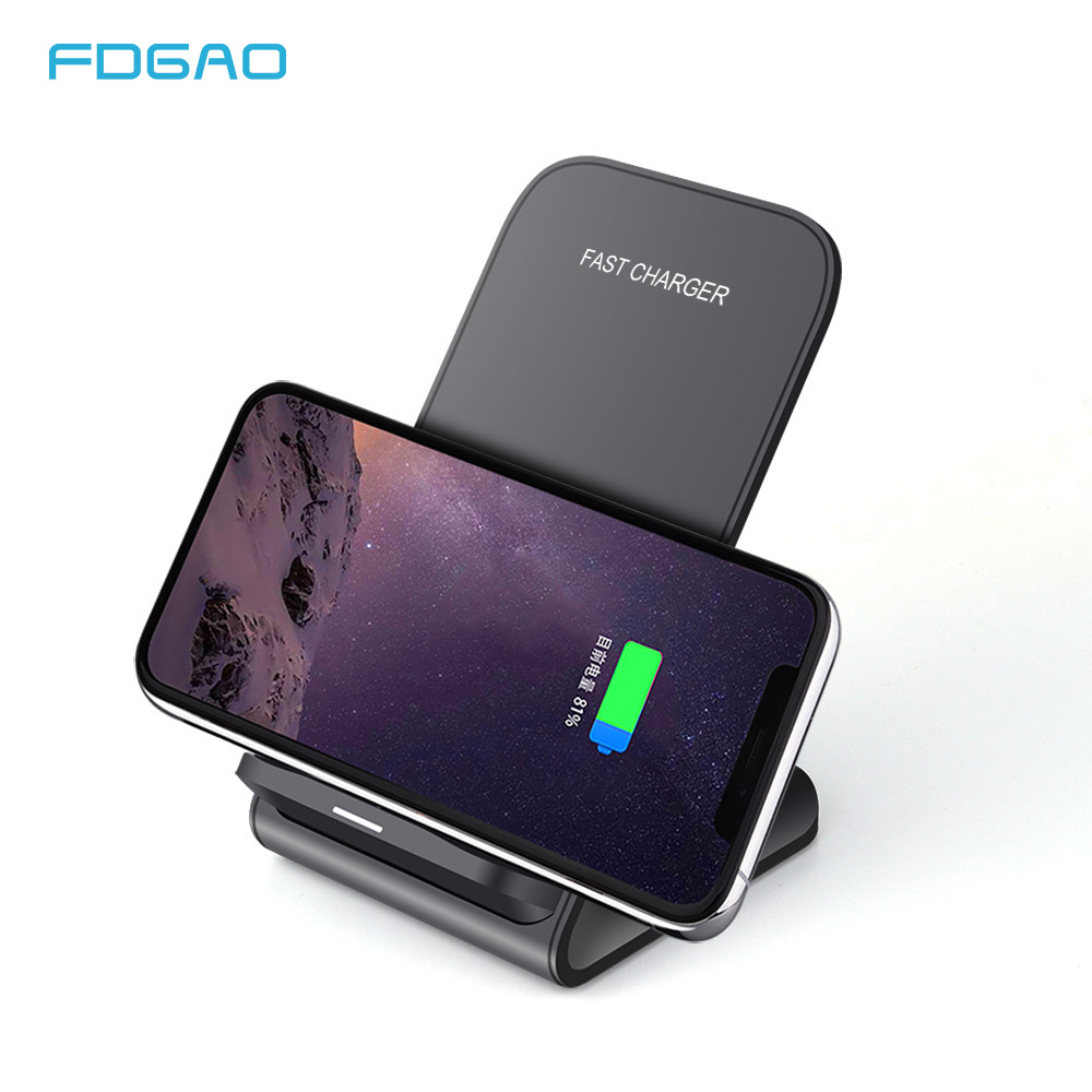 FDGAO Qi Wireless Charger Dock USB Fast Charging For IPhone X Xs MAX XR Samsung S8 S9 Note 8 10W Wireless Quick Charger Holder