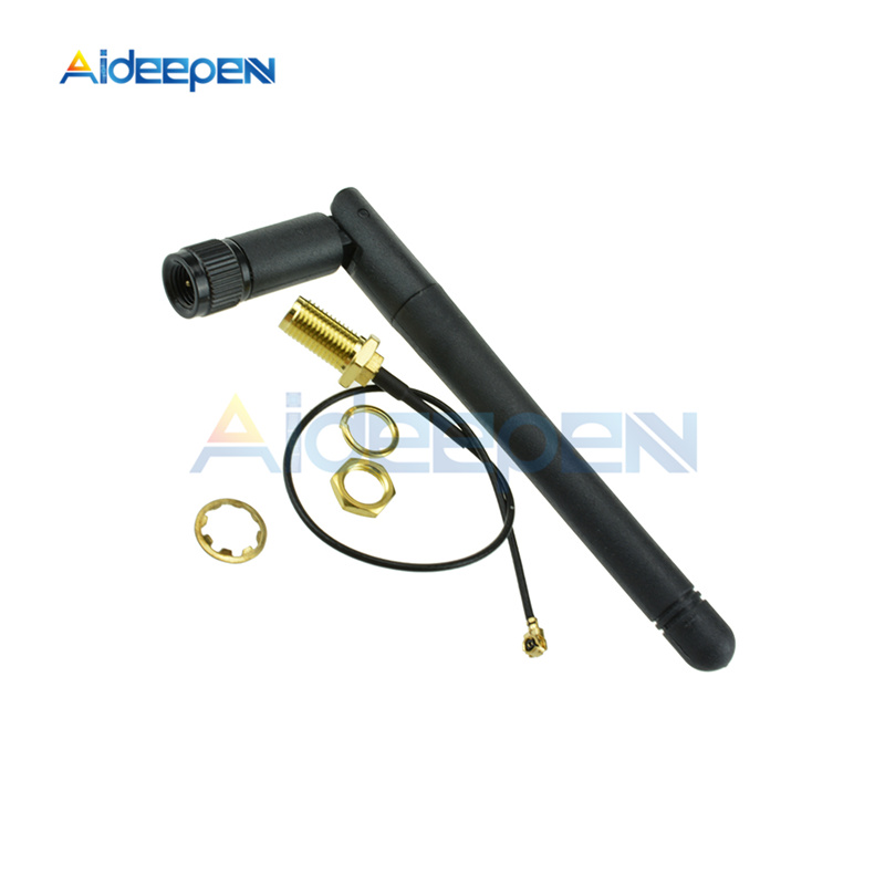 11cm 2.4GHz 3dBi WiFi 2.4g Antenna Aerial RP-SMA Male Wireless Router+ 20cm PCI U.FL IPX To RP SMA Male Pigtail Adapter Cable