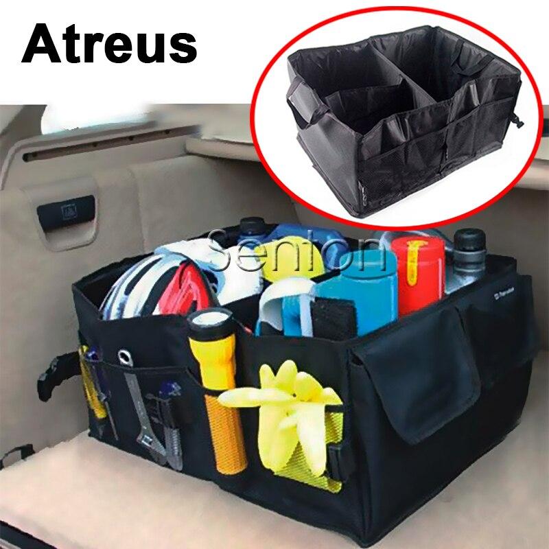 Atrée Accessoires Pour Buick De Voiture Lexus Nissan Qashqai J11 Juke Tiida Almera X-Sentier T32 T31 Pliage Tronc Sac boîte De Voiture de Coiffure