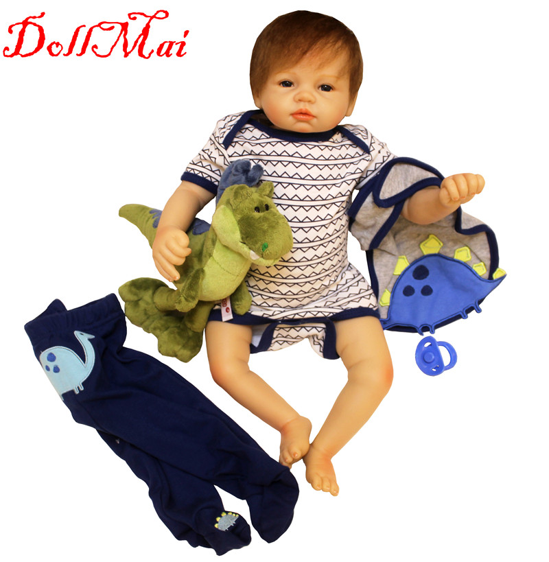 DollMai 22 bebe boy reborn dolls lifelike newborn baby silicone reborn baby dolls for children gift real alive bonecasDollMai 22 bebe boy reborn dolls lifelike newborn baby silicone reborn baby dolls for children gift real alive bonecas