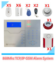 Free Shipping New TCP/IP Alarm System GSM Alarm System Security Home Alarm System GPRS Alarm System With WebIE PC Control