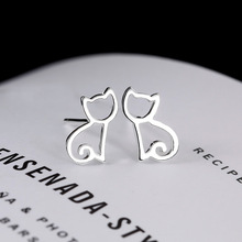 Tiny Symmetry Cat Stud Earrings