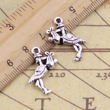 10pcs/lot Charms stork delivering baby bird 23x18mm Tibetan Silver Pendants Crafts Making Findings Handmade Antique DIY Jewelry