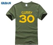 GILDAN  Shirt Hot Sell Stephen Curry NO 30 T shirt Men 100% Cotton Short Sleeve Basketballer Crew Neck Tops Men Teess 30 rev 30 30 stephen curry jersey