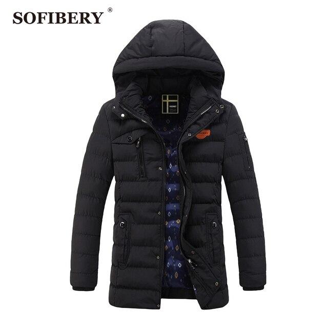 SOFIBERY Coats New Men's Coats & Jackets Down & Parkas Men's fashion zipper repair men's casual warm coat JOB-QZ1288