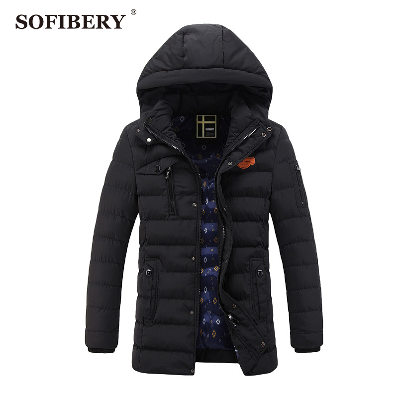 SOFIBERY Men's Coats Parkas New Men's Jackets Men's fashion zipper repair men's casual warm coat JOB-QZ1288