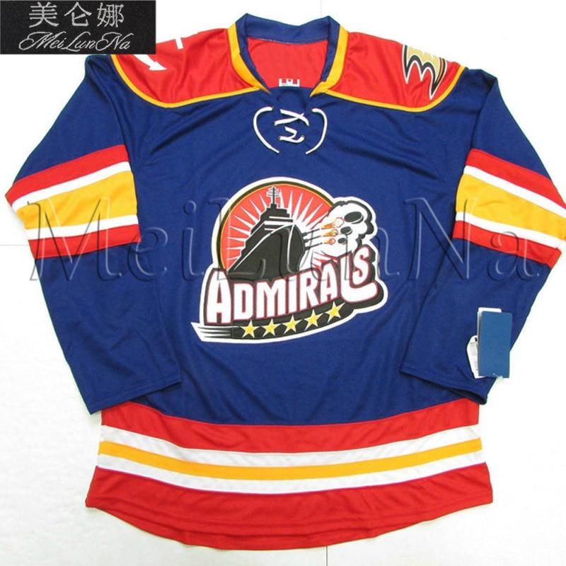 лучшая цена MeiLunNa Custom AHL Norfolk Admirals Hockey Jerseys Keith Anderson Seabrook Crawford Byfuglien Hall Sewn On Any Name NO.Size