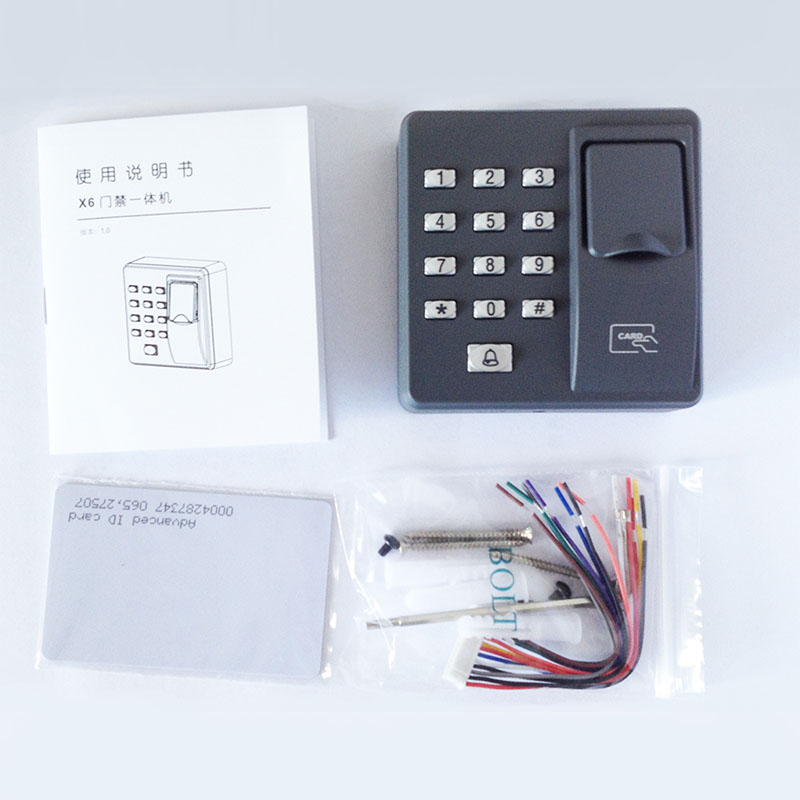 Fingerprint access control machine with keypad fingerprint scanner for RFID door access control system access control all in one machine reader entry door keypad lock access control system for office family