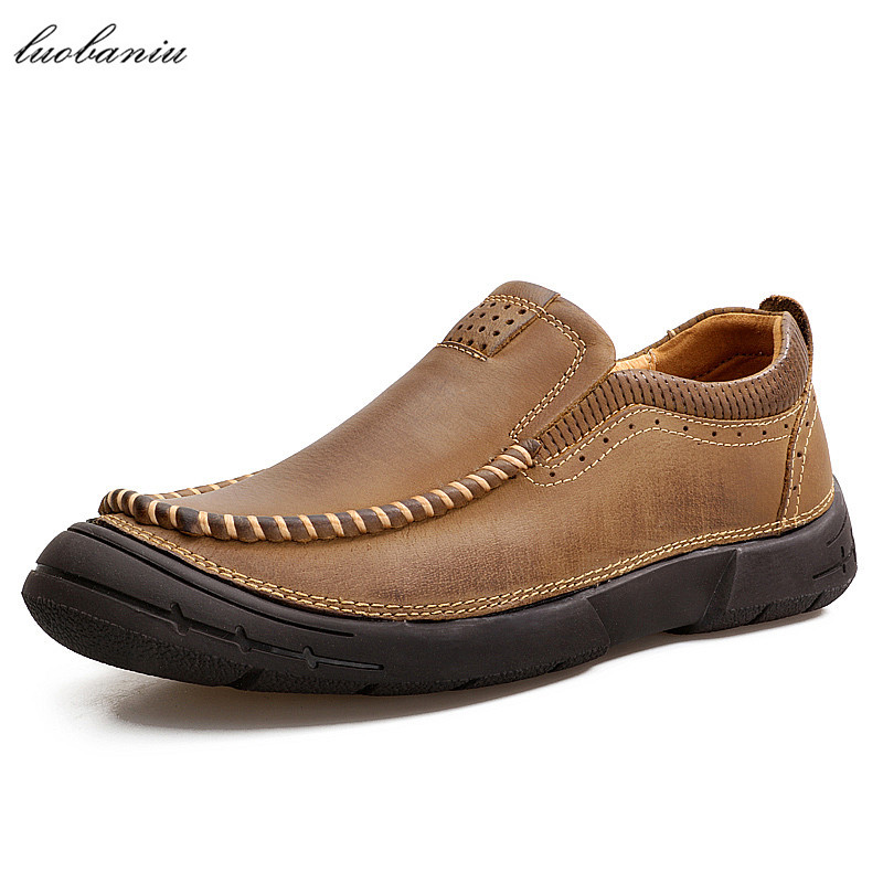 Genuine Leather Men Shoes Casual Moccasins Men Leather Shoes Men Loafers High Quality