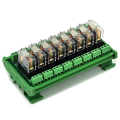 Electronics-Salon DIN Rail Mount AC/DC 12V control 8 SPDT 16Amp Pluggable Power Relay Module, G2R-1-E