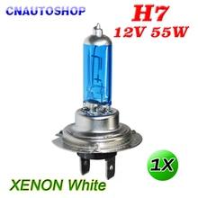 Hippcron H7 галогенная лампа для автомобилей 12В 55 Вт ксенон яркий темно-синий кварцевые Стекло автомобильных фар супер белый авто лампы