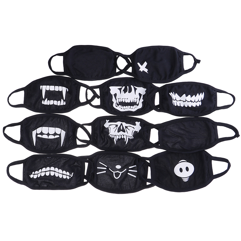 10 STYLE Cute Cotton Dustproof Mouth Face Mask Anime Cartoon Kpop Lucky Bear Pig Teeth Women Men Muffle Face Mouth Masks Hot