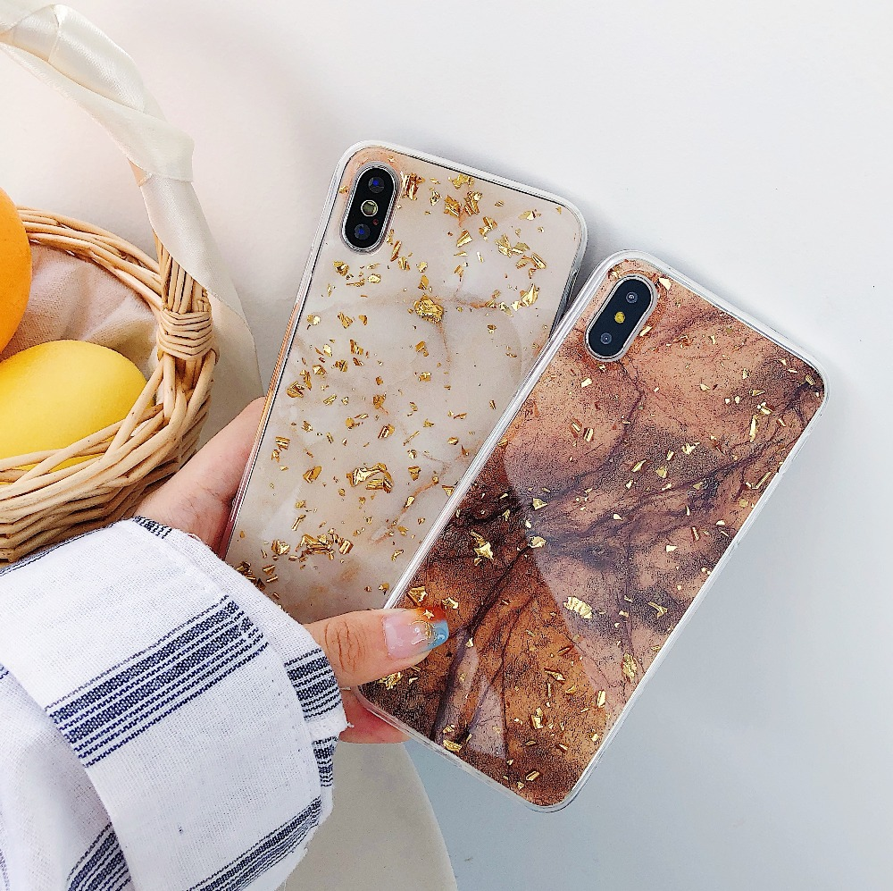 Fastdeng Luxuriöse Gold Folie Telefon Fall Für Iphone X Xr Xs Max Marmor Mode Helle Schöne Telefon Fall Für Iphone6 7 8 Plus Hohe Belastbarkeit Handys & Telekommunikation