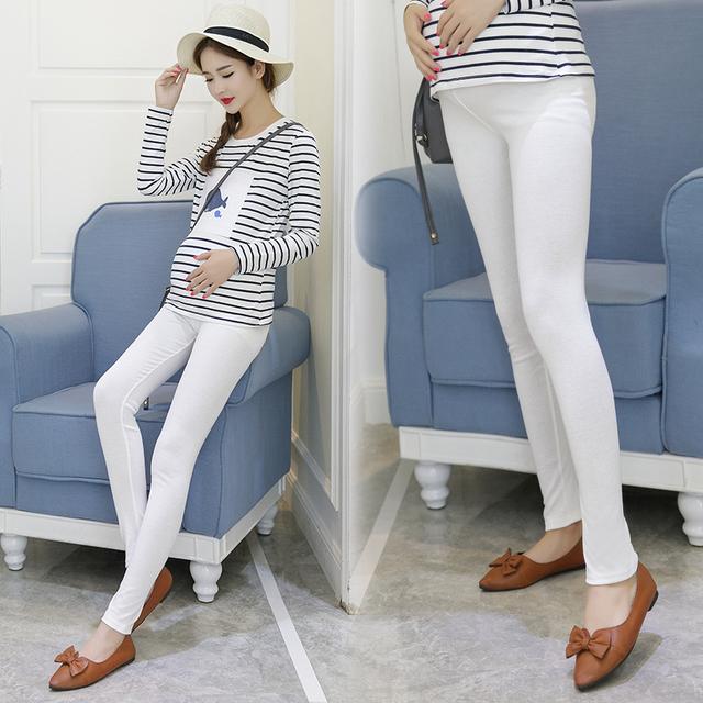 2016 Mulheres de roupas de maternidade roupas de inverno Leggings engrossado com veludo mulheres grávidas calças calças quentes