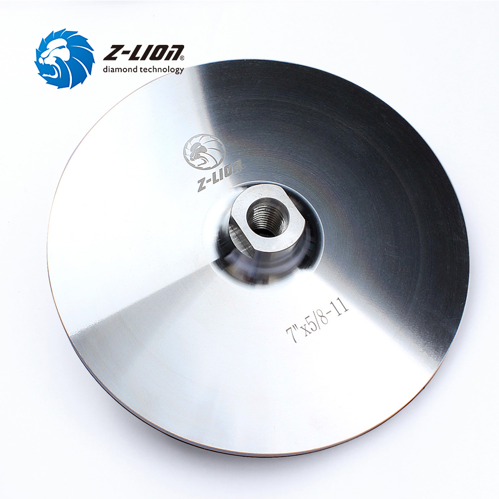 Z LION 7 Inch 178mm Backer Pads Aluminum Based M14 5/8 11 Thread Backer Holder Pad Hook & Loop For Diamond Polishing Pad Wheel-in Polishing Pads from Tools