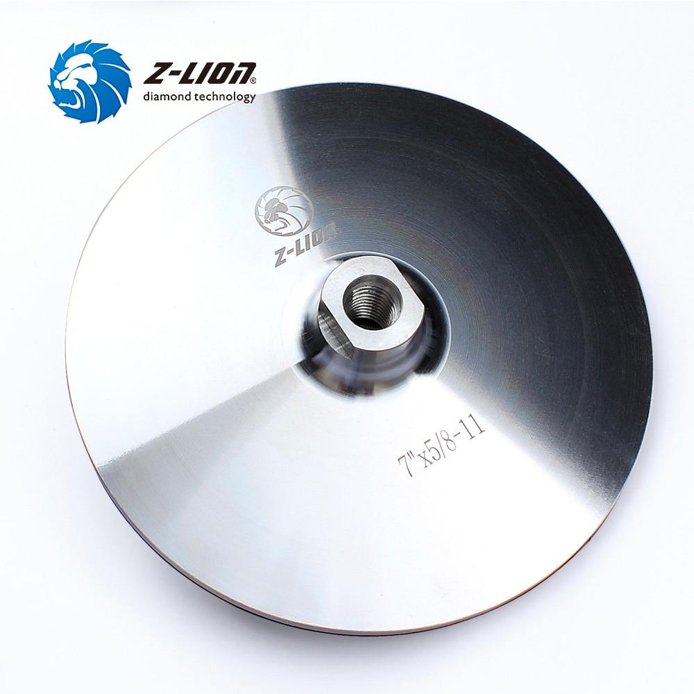 Z-LION 7 Inch 178mm Backer Pads Aluminum Based M14 5/8-11 Thread Backer Holder Pad Hook & Loop For Diamond Polishing Pad Wheel