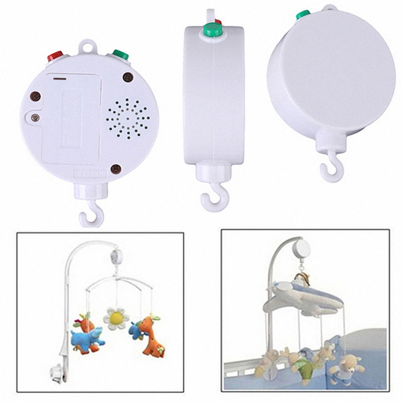 Nursery New 35 Songs Rotary Baby Mobile Crib Bed Toy Music Box Movement Bell ...