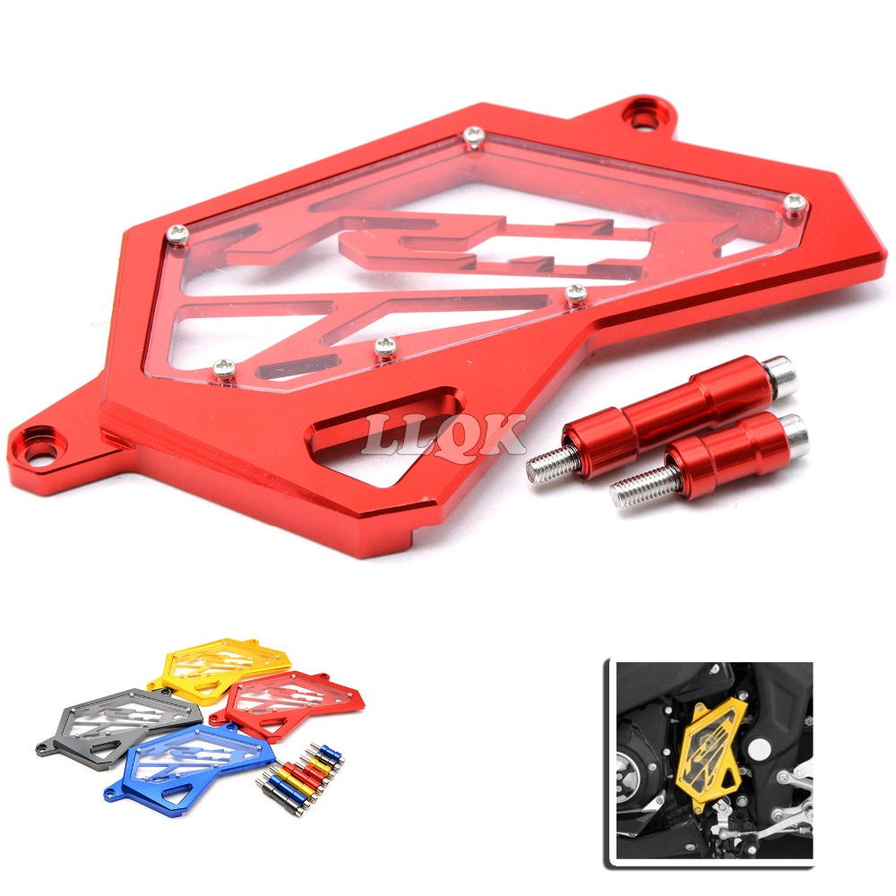 Front Sprocket Cover Chain Guard Cover Left Side Engine CNC Aluminum For Yamaha YZF-R3 YZFRZ YZF R3 R25 2014 2015 2016 14 15 16 cnc aluminum front sprocket cover chain guard cover for yamaha yzf r3 2015 2016