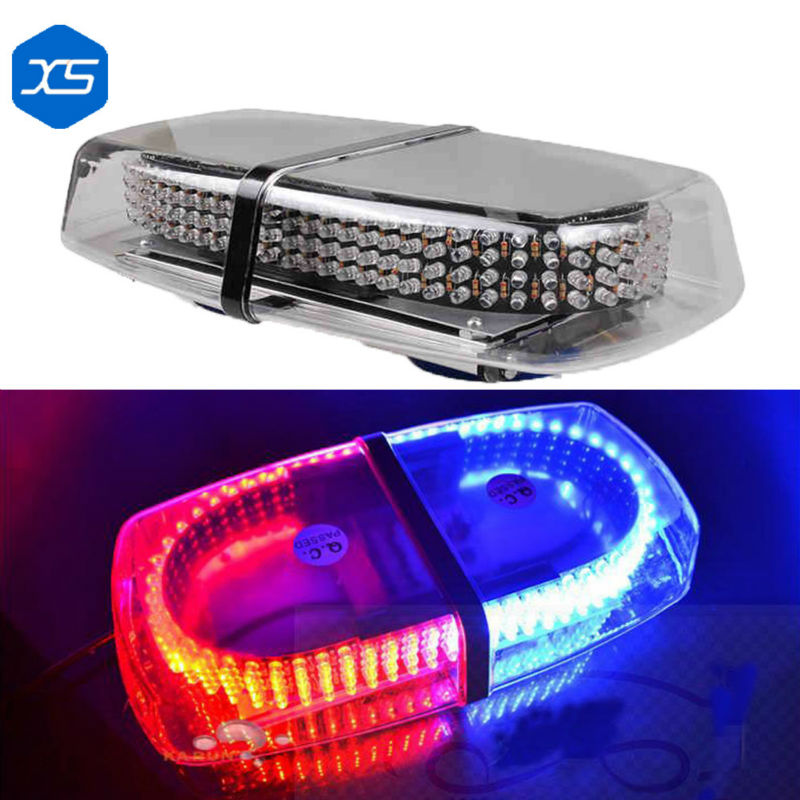 Car Accessories 240 LED Car Police Blasting Flashlight Red With Blue Color Yellow 12V 30W Warning Flasher Signal Lamps FOR MINI police pl 12921jsb 02m