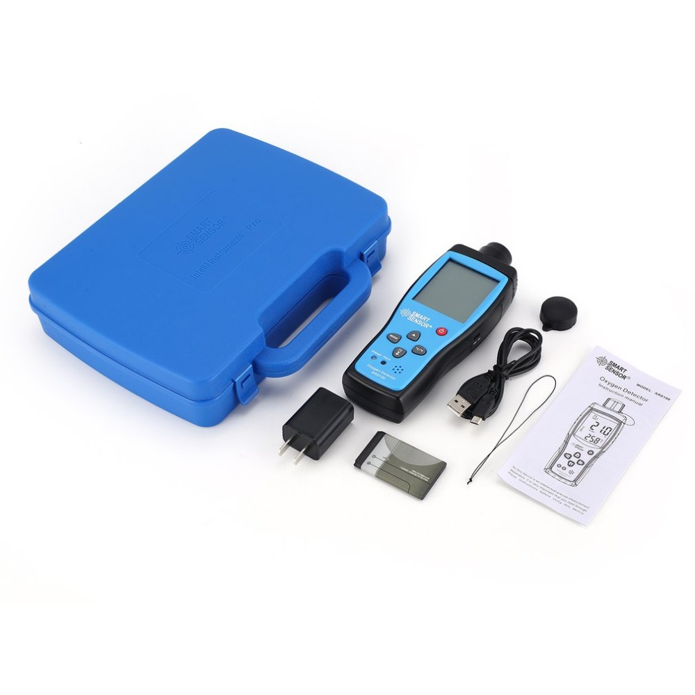 Smart Sensor AR8100 Air Quality Monitor Gas Meter O2 Oxygen TEMP Detector Analyzer Handheld Tester Temperature Thermometer