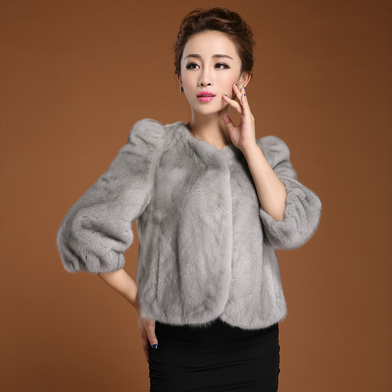 Online Shop women fur jacket/ Real mink fur short coat/jacket O ...