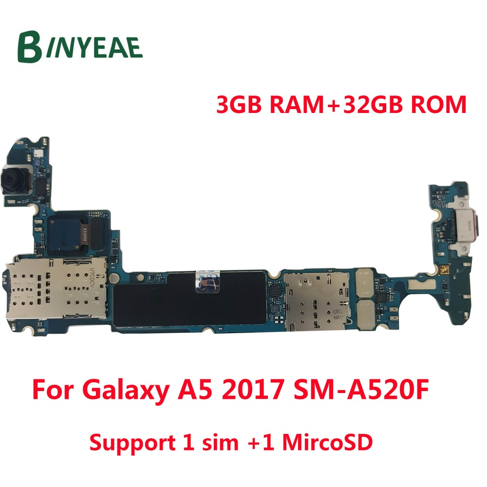 BINYEAE Unlocked Main font b Motherboard b font 32GB Logic Board Back and front camera Replacement