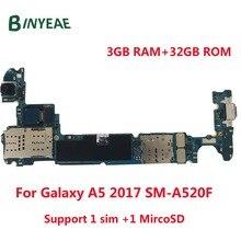 BINYEAE разблокированная основная материнская плата 32 Гб логическая плата + задняя и передняя камера Замена для Samsung Galaxy A5 2017 a520f