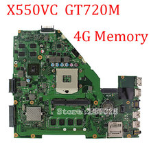 X550VC Laptop Motherboard X550VC 8 pcs chips 4GB DDR3 REV3.0 PN:60NB00S0-MBB100 Mainboard fully tested & free shipping