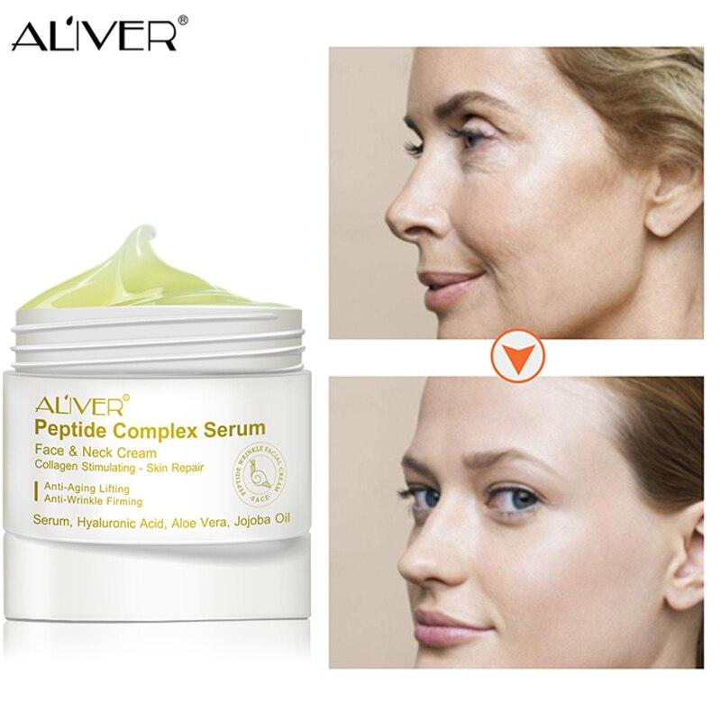Korean Cosmetics Anti Wrinkle Face Cream Day Night Moisturizer Six Peptide Serum Anti Aging Hydrating Lifting Facial Firming 30g