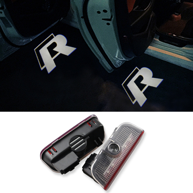 2X Laser LED Door Lights Courtesy Ghost Shadow Light for VW Golf 5 6 7 Jetta