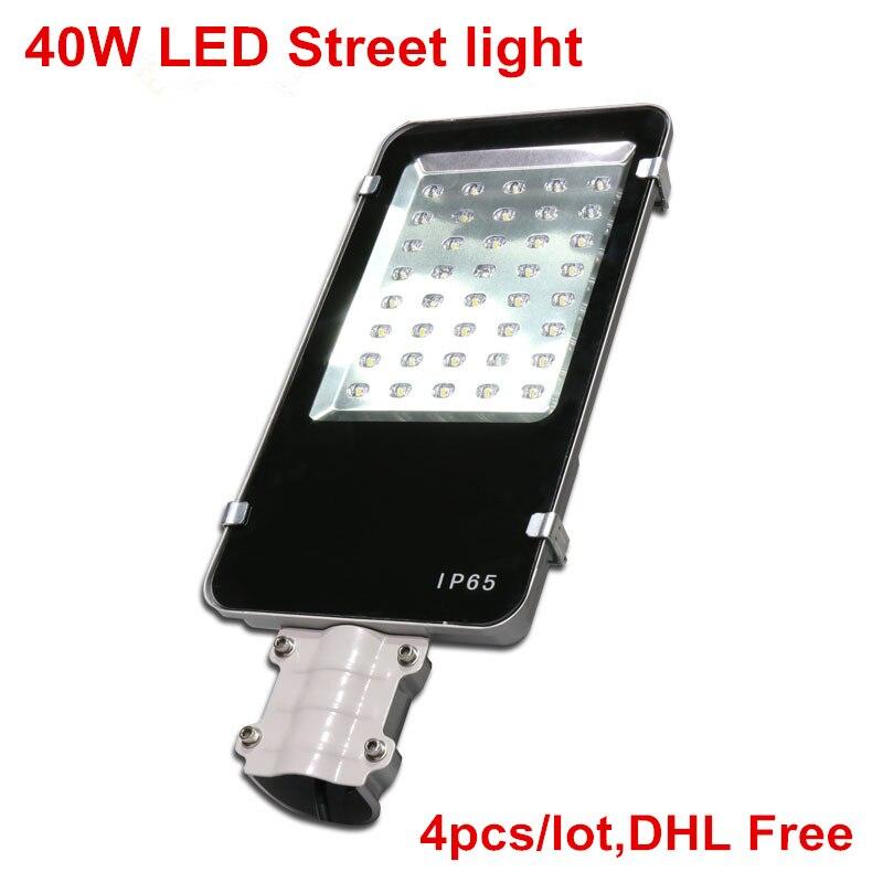 Здесь можно купить  40W LED Road Lamp Super Bright DC12V DC24V AC85-265V LED Street light Warm White/Cold White Outdoor lighting 4pcs/lot DHL Free  Свет и освещение